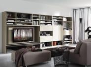 Wall-mounted lacquered storage wall LALTROGIORNO 876 - TUMIDEI