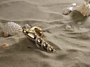DK chromed brass window handle with Swarovski® Crystals on rose SHELL MESH   DK window handle - LINEA CALI'