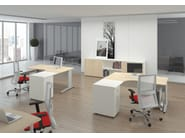 Individual wooden office workstation FORMAT | Individual office workstation - Las Mobili