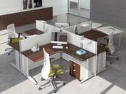Multiple office workstation FORMAT | Multiple office workstation - Las Mobili
