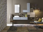 Single wall-mounted vanity unit with cabinets FREE 80/81 - Cerasa