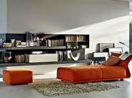 Upholstered fabric pouf NIGHT&DAY | Pouf - MOLTENI & C.