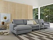 Corner sectional fabric sofa PORTFOLIO   Corner sofa - MOLTENI & C.
