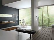 Wall-mounted 1-spray steel overhead shower 100 | Overhead shower - ZAZZERI