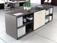 Low wooden office storage unit with lock UNIVERSAL CABINETS | Office storage unit with lock - Las Mobili