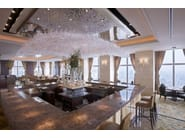 Design indirect light glass chandelier GINKGO - Lasvit