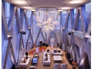 Indirect light crystal chandelier PEONY - Lasvit