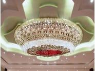 Indirect light blown glass chandelier CROWN JEWEL - Lasvit