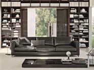 Recliner leather sofa REVERSI   Leather sofa - MOLTENI & C.