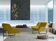 Sled base upholstered leather armchair TIGHT | Armchair - MOLTENI & C.