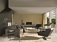 Upholstered leather armchair with 4-spoke base TIGHT   Armchair with 4-spoke base - MOLTENI & C.