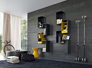 Wall-mounted sectional modular bookcase FORTEPIANO | Bookcase - MOLTENI & C.