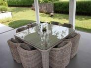 Square garden table PROVENCE | Square table - Sérénité Luxury Monaco