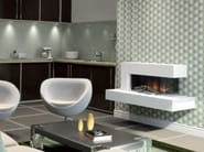 Wall-mounted electric fireplace with panoramic glass VISTA SUITE - BRITISH FIRES