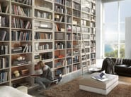 Open wooden bookcase TAORMINA | Bookcase - Bizzotto