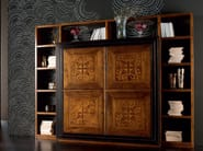 Wall-mounted wooden bookcase CA' VENIER | Bookcase - Cantiero