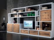 Sectional wooden storage wall CA' VENIER | Storage wall - Cantiero
