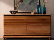Walnut sideboard with doors with drawers ELETTRA DAY | Solid wood sideboard - Cantiero