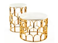 Round high side table for living room ANANAZ | High side table - Ginger & Jagger