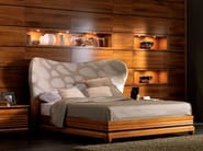 Walnut double bed ELETTRA NIGHT | Bed - Cantiero