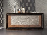 Silver leaf sideboard with doors with drawers ÉTOILE DAY | Sideboard with drawers - Cantiero