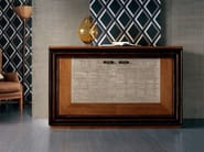 Silver leaf sideboard with doors with drawers ÉTOILE DAY | Silver leaf sideboard - Cantiero