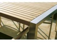 Rectangular garden table INFINITY | Garden table - Il Giardino di Legno