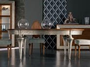 Extending oval silver leaf table ÉTOILE DAY | Extending table - Cantiero