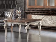 Square silver leaf coffee table ÉTOILE DAY | Coffee table - Cantiero