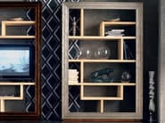 Wall-mounted silver leaf TV wall system ÉTOILE DAY | Silver leaf bookcase - Cantiero