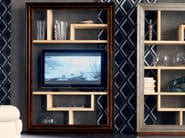 Wall-mounted solid wood TV wall system ÉTOILE DAY | Bookcase - Cantiero