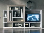 Sectional silver leaf storage wall ÉTOILE DAY | Sectional storage wall - Cantiero