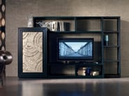 Sectional silver leaf storage wall ÉTOILE DAY | Silver leaf storage wall - Cantiero