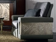 Upholstered silver leaf armchair with armrests ÉTOILE DAY | Armchair - Cantiero