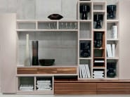 Sectional lacquered wooden storage wall D-102 | Storage wall - Dale Italia