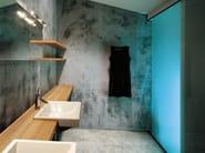 Double wooden washbasin countertop BLOCK   Wooden washbasin countertop - Moab 80