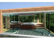 Steel pergola SPA - CAGIS
