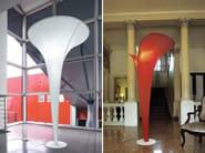 Metal and washable fabric floor lamp ARUM | Floor lamp - LUCENTE - Gruppo Rostirolla