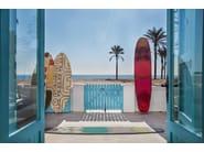 Handmade wool rug SURF RACE INDICO BLUE - GAN By Gandia Blasco