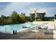 Round Batyline® Garden umbrella CORAL REEF   Parasole - Roberti Rattan