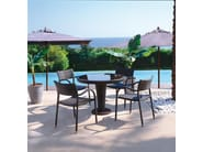 Stackable stainless steel garden chair with armrests PAPAYA | Garden chair with armrests - Roberti Rattan