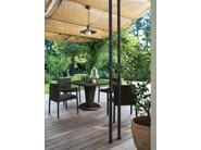 Square aluminium garden table SAINT TROPEZ | Square garden table - Roberti Rattan