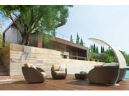 Aluminium garden armchair with armrests SAINT TROPEZ | Garden armchair - Roberti Rattan
