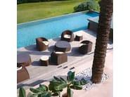 Round aluminium garden pouf COCONUT   Garden pouf - Roberti Rattan