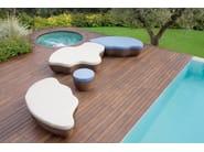 Garden pouf / garden side table LES ILES | Round garden side table - Roberti Rattan