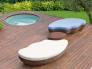 Garden pouf / garden side table LES ILES | Garden side table - Roberti Rattan