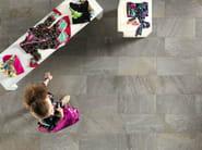 Porcelain stoneware wall/floor tiles with stone effect QUARTZ DESIGN SILVER - EDIMAX CERAMICHE