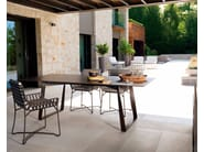 Rectangular HPL garden table HAMPTONS GRAPHICS | HPL table - Roberti Rattan
