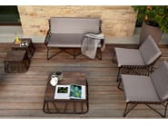 Low Square aluminium garden side table HAMPTONS GRAPHICS | Square coffee table - Roberti Rattan