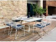Garden chair with armrests HAMPTONS GRAPHICS | Metal garden chair - Roberti Rattan